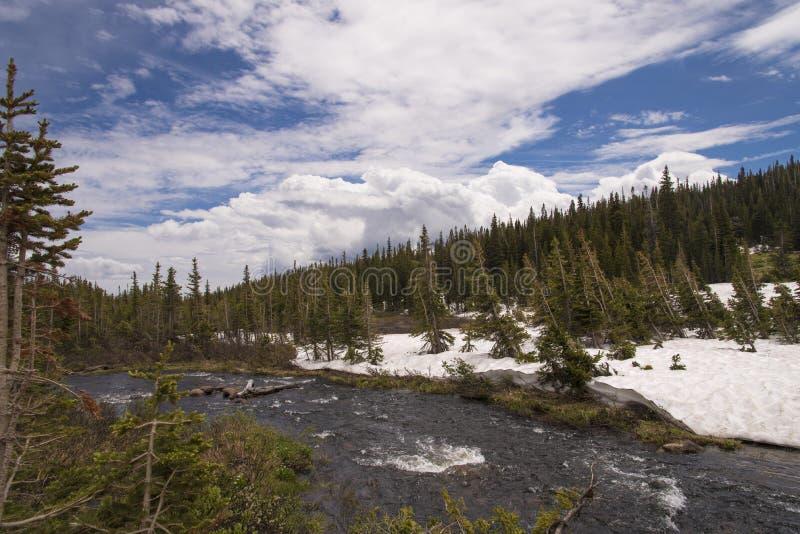 Długi Jeziorny ślad, Kolorado zdjęcie stock