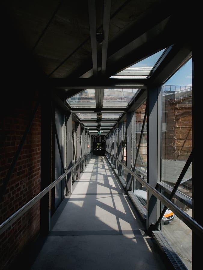 Długi korytarz fotografia stock