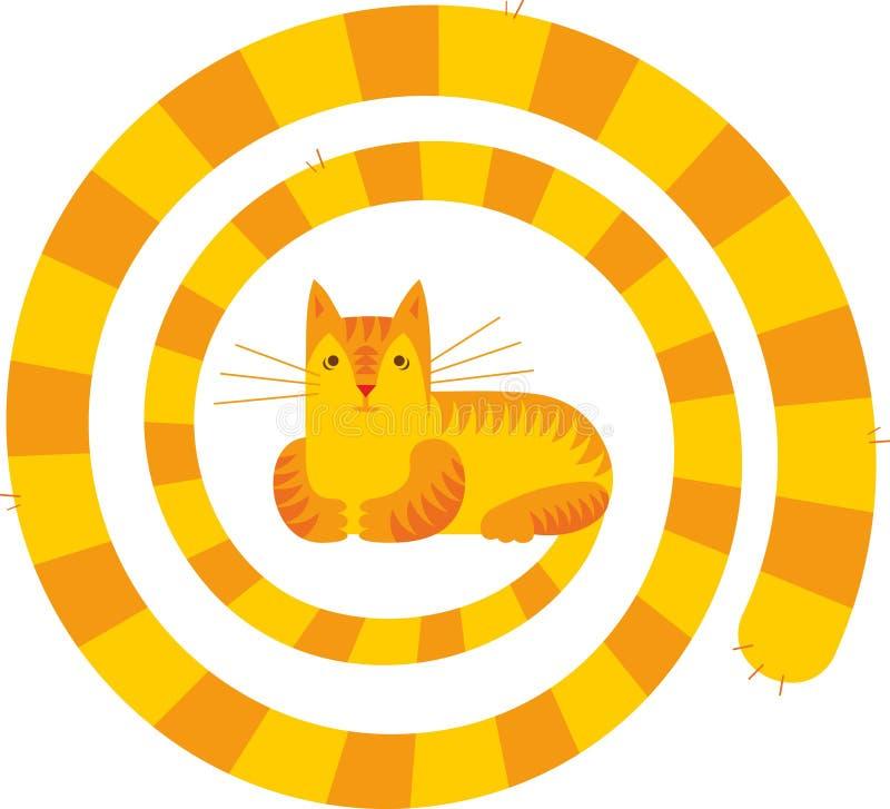 długi kota ogon ilustracja wektor
