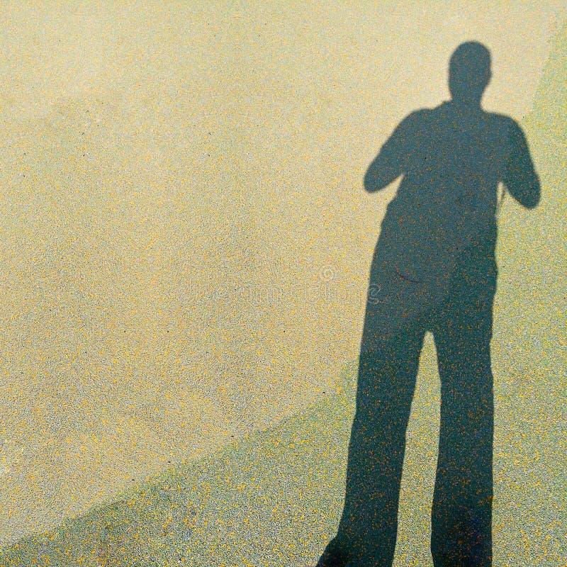 Długi ludzki cień fotografia stock