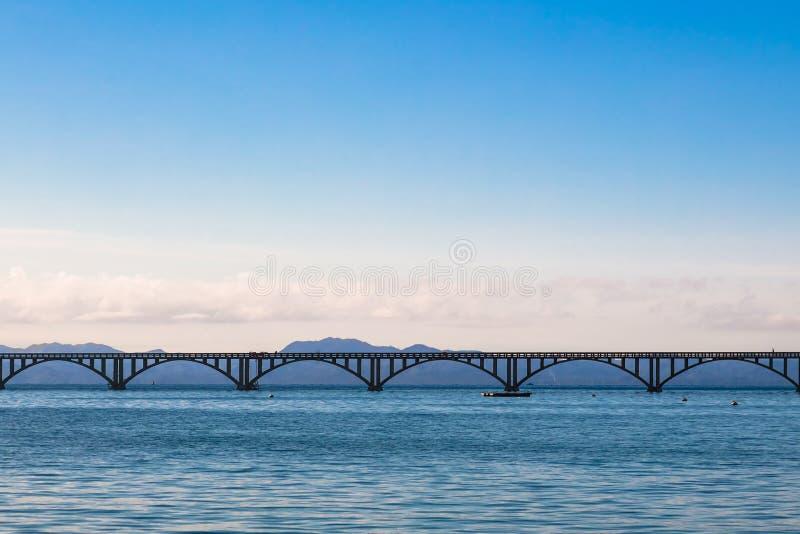Długi morze most w Samana, republika dominikańska fotografia royalty free