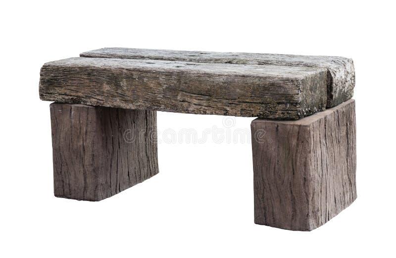 Długi stary drewniany krzesło odizolowywający na białym tle obrazy royalty free