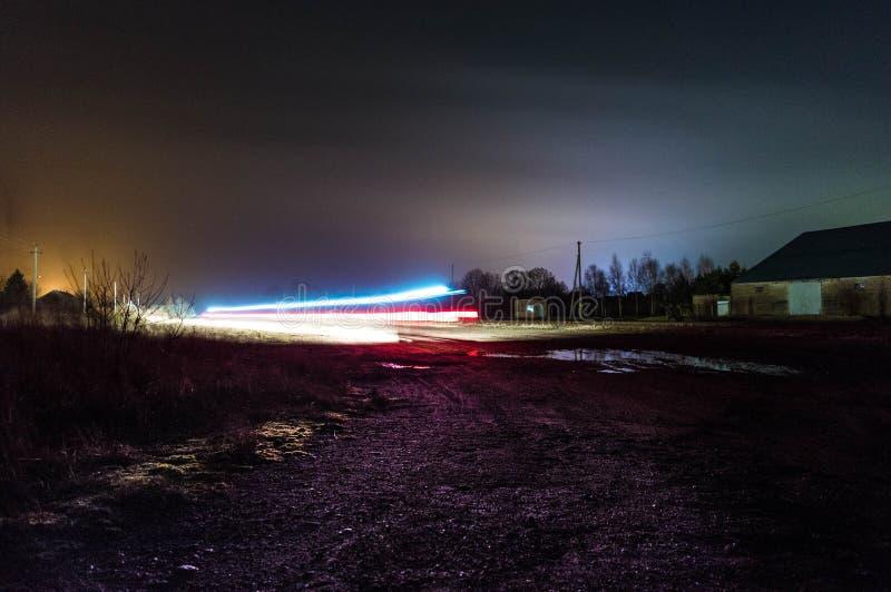 Długi ujawnienia światła śladu strzał obrazy stock