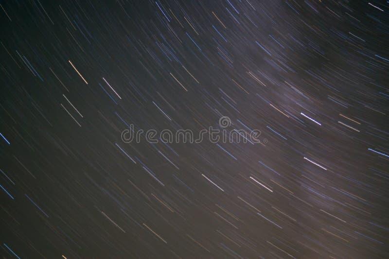 Długi ujawnienie gwiazdy ślad obrazy royalty free