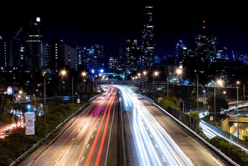 Długi ujawnienie nad autostradą obrazy royalty free