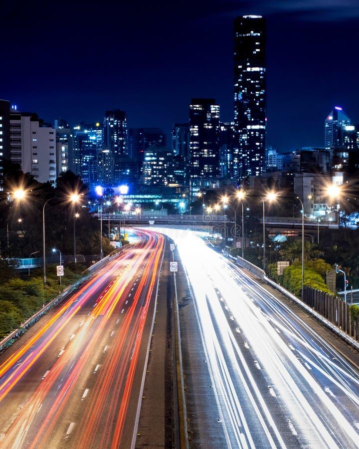 Długi ujawnienie nad autostradą zdjęcie royalty free
