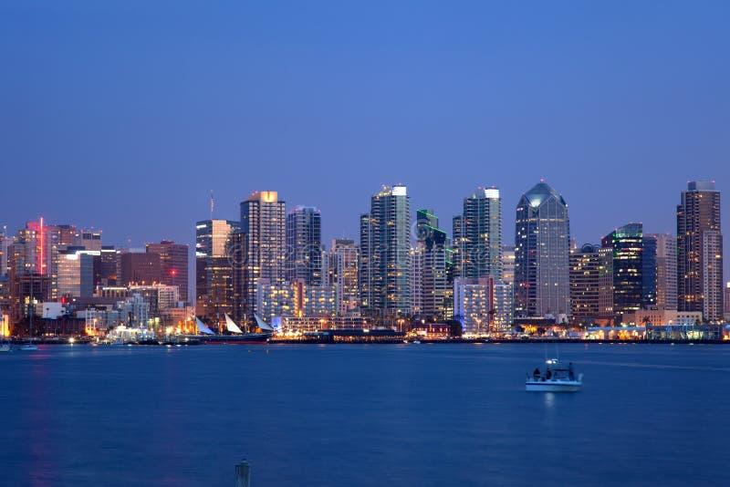 San Diego linia horyzontu fotografia stock