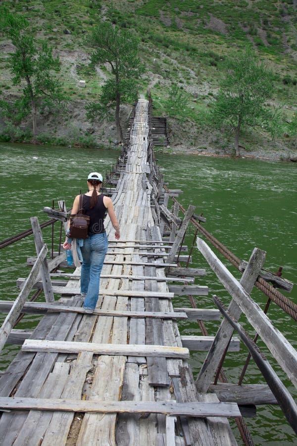 Długi zawieszenie stopy most obrazy stock