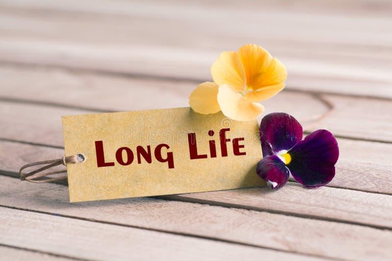 Długie życie etykietka fotografia royalty free
