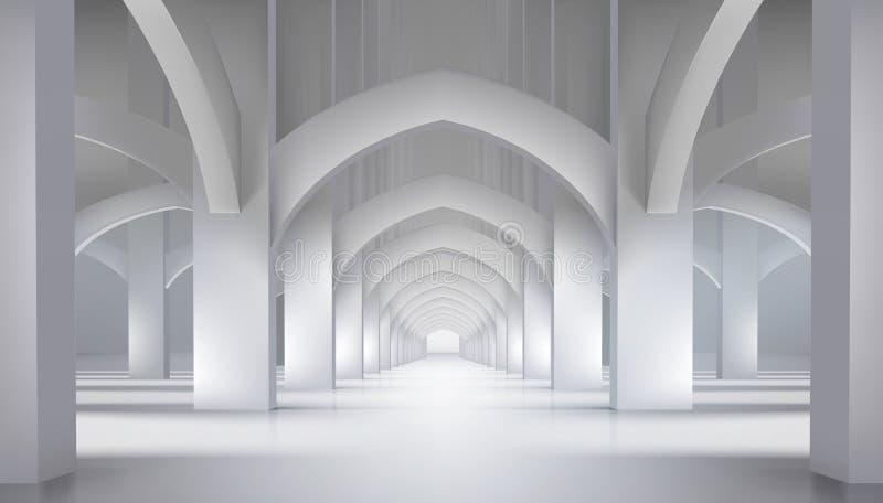 Długie korytarze w muzeum Ilustracja wektorowa royalty ilustracja