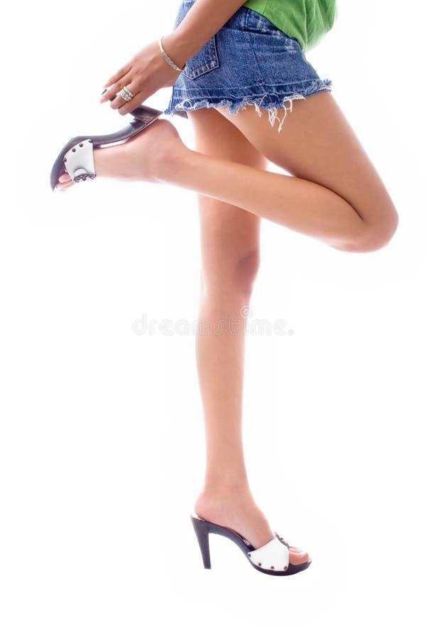 długie nogi. zdjęcie royalty free