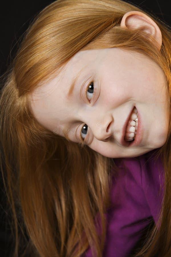 długie włosy g - girl. fotografia stock