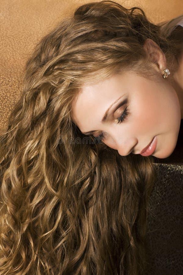 długie włosy kobiety fotografia royalty free