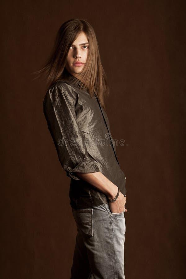 długie włosy young zdjęcia stock