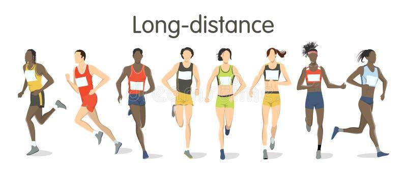 Długodystansowi biegacze royalty ilustracja