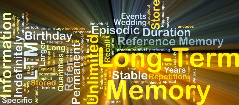 Długookresowej pamięci LTM tła pojęcia jarzyć się ilustracja wektor