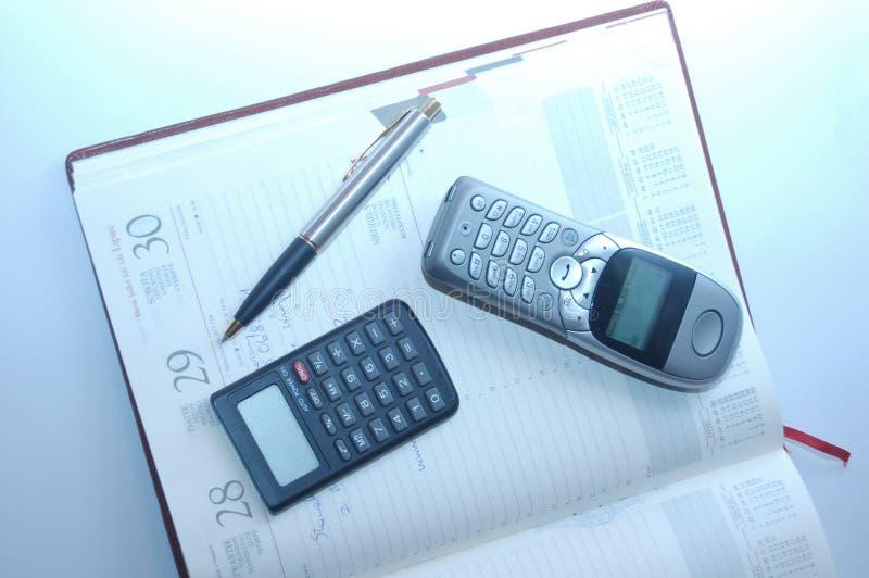 długopis organizatora kalkulator fontann obrazy royalty free