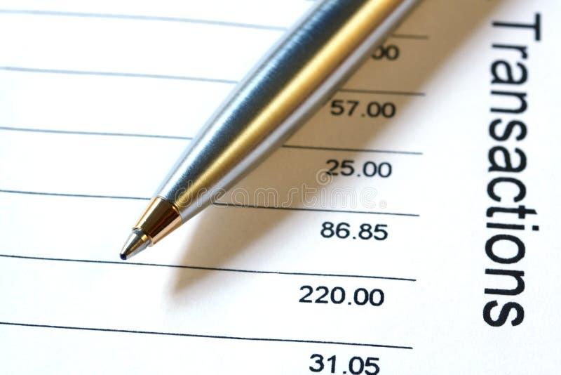 długopisy oświadczenia banku obrazy royalty free
