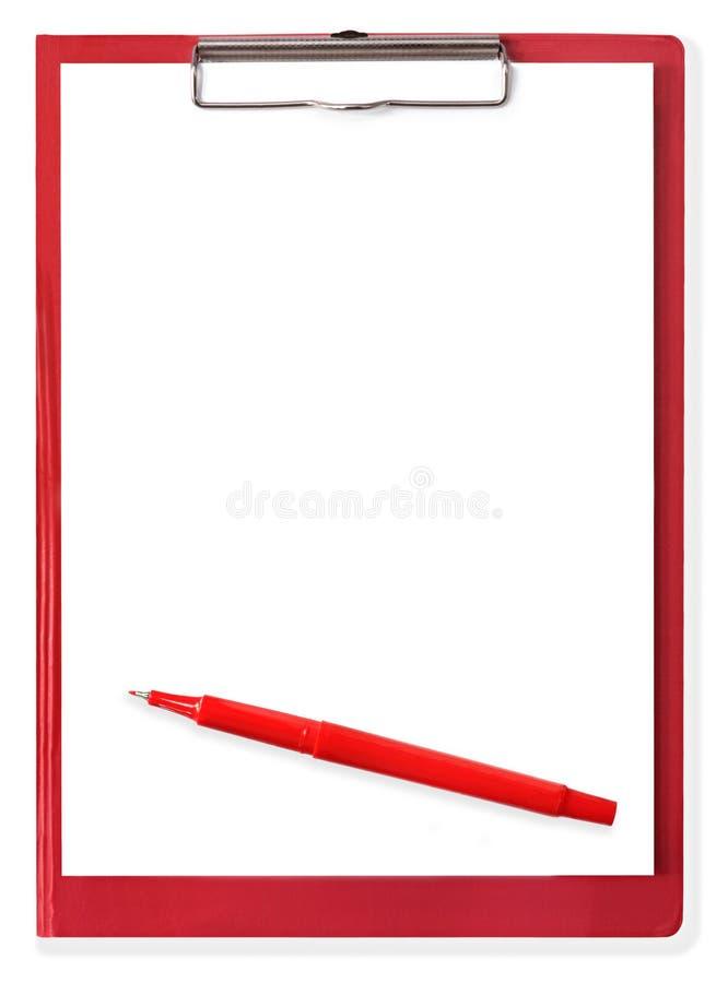 długopisy schowka czerwone. fotografia royalty free