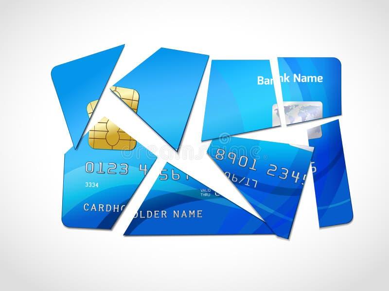 Długu bankructwa symbol ilustracji