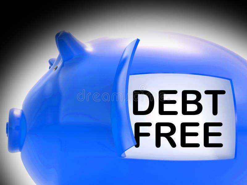 Długu prosiątka Bezpłatny bank Ukuwa nazwę sposobu pieniądze Płacącego Daleko ilustracja wektor