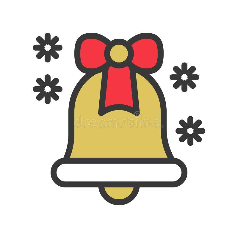 Dźwięczeń płatek śniegu, dzwon, śliczni boże narodzenia i zima i, odnosić sie se royalty ilustracja