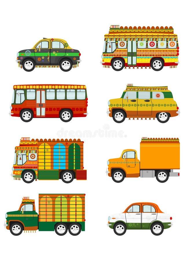 Dźwięczenie samochody ustawiający ilustracji
