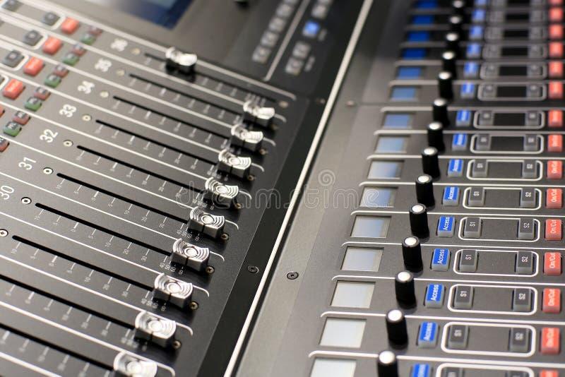 Dźwięk, muzyczna konsola obraz stock