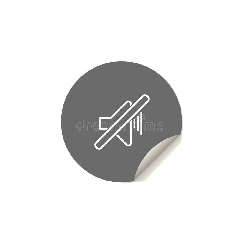 dźwięk oceny ikona Element sieci ikony dla mobilnych pojęcia i sieci apps Majcheru dźwięka oceny stylowa ikona może używać dla si royalty ilustracja