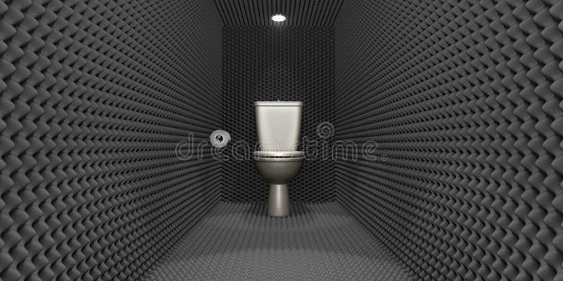 dźwiękoszczelna kabinki toaleta ilustracja wektor