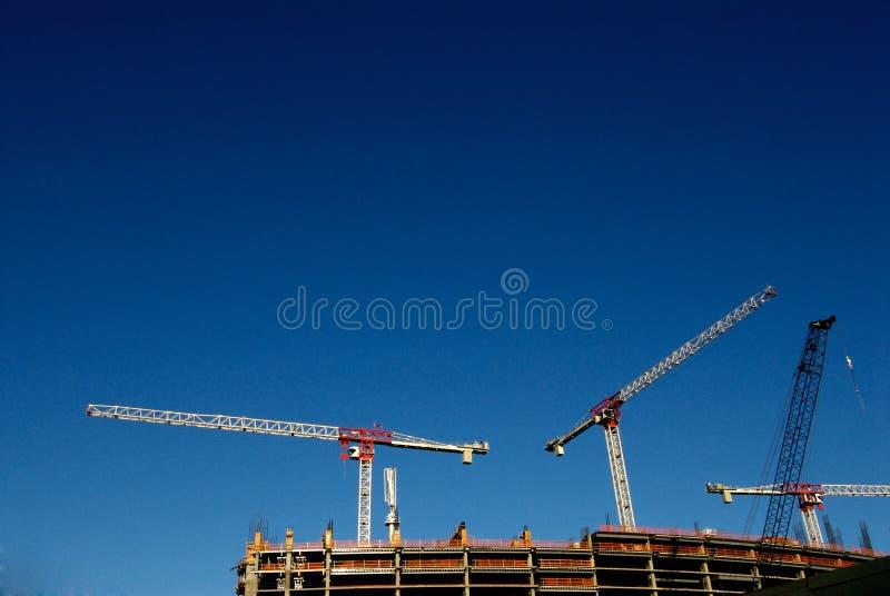 dźwigów budowlanych zdjęcie stock
