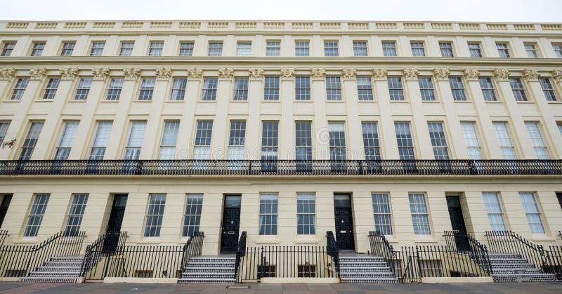Dźwignący, Sussex, UK Fotografia fasada Brunswick taras na dennym przodzie w Dźwignący, Brighton/ zdjęcia royalty free