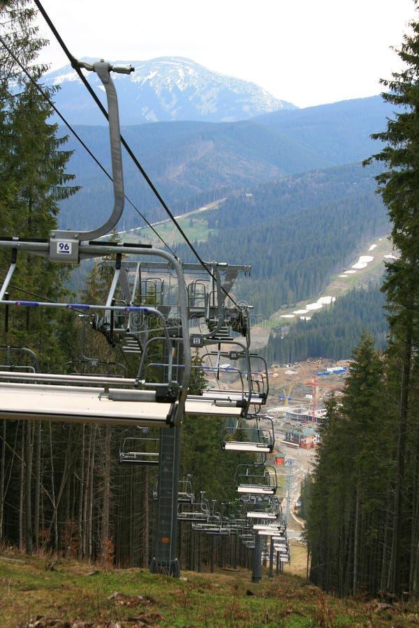 dźwignięcia narciarstwo zdjęcia royalty free