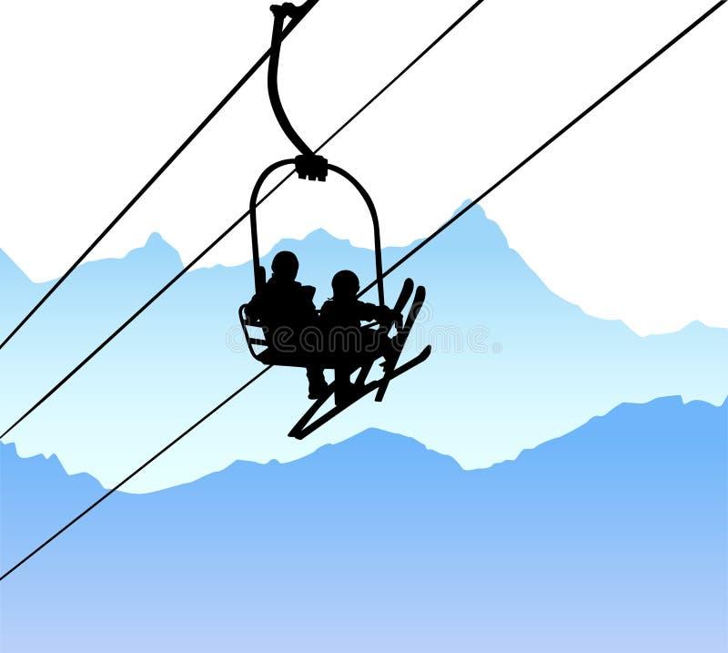 dźwignięcia narty wektor ilustracja wektor