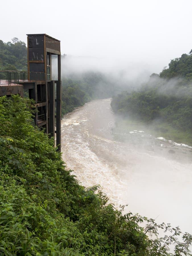 Dźwignięcie przy rzeką w Paraguay obraz royalty free
