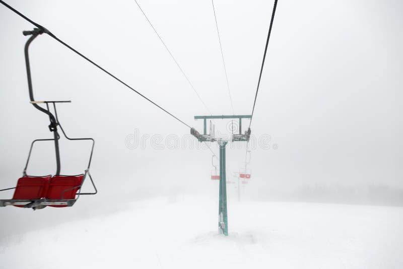 Dźwignięcie w mgle zdjęcie royalty free