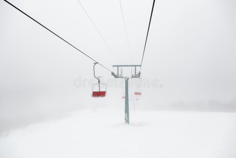 Dźwignięcie w mgle obrazy stock