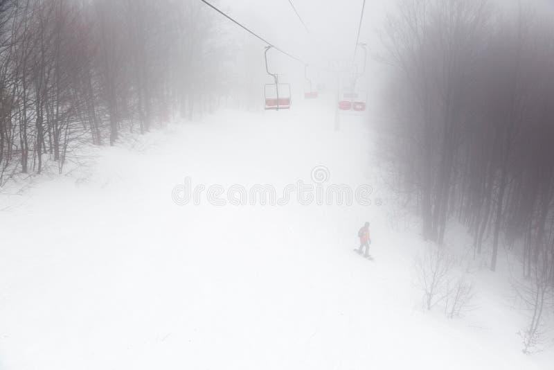 Dźwignięcie w mgle zdjęcia stock