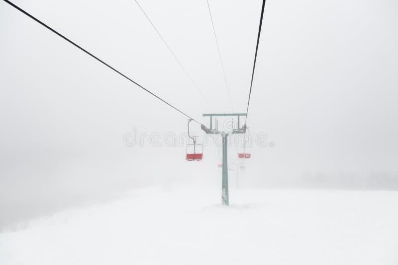 Dźwignięcie w mgle zdjęcia royalty free