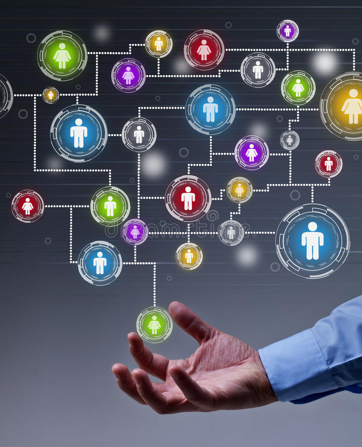 Ogólnospołeczny networking w biznesie zdjęcia royalty free