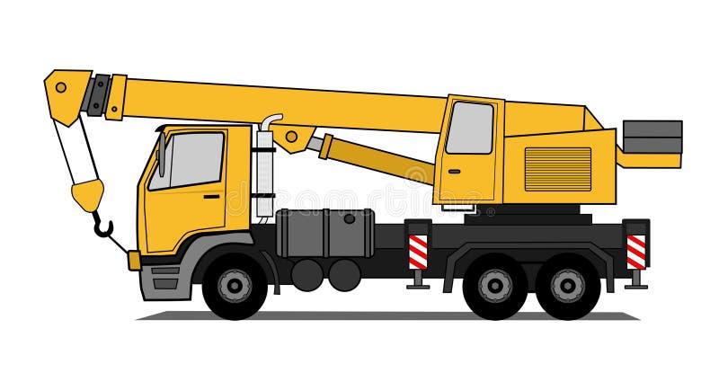 dźwigowa ciężarówka ilustracji