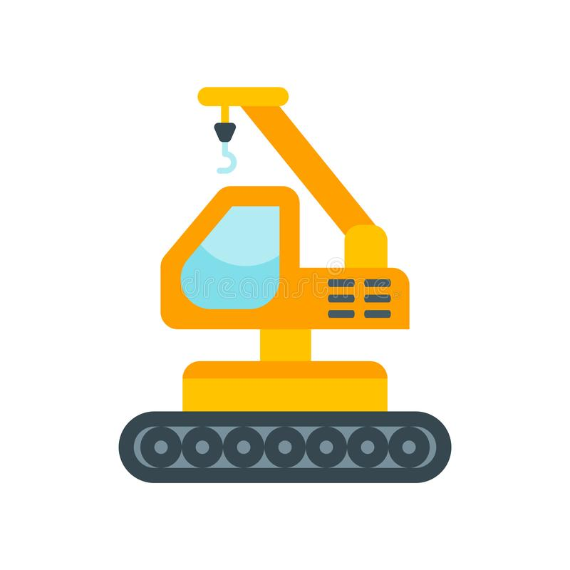 Dźwigowy ikona wektoru znak i symbol odizolowywający na białym tle ilustracji