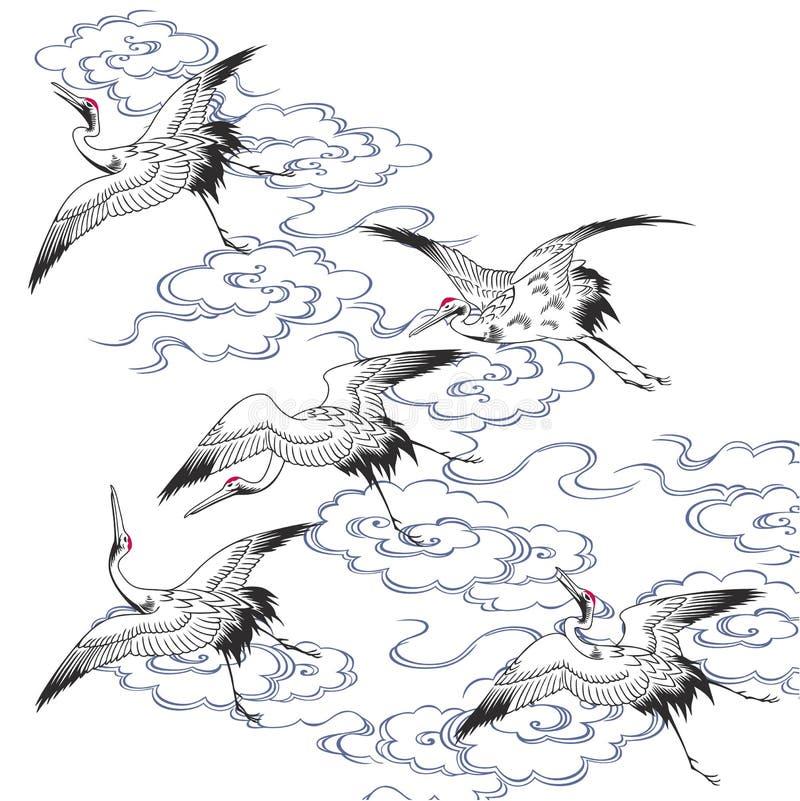 dźwigowy japończyk ilustracji