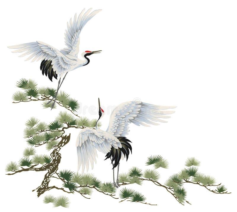 dźwigowy japończyk royalty ilustracja