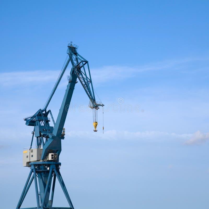 dźwigowy port morski obrazy stock