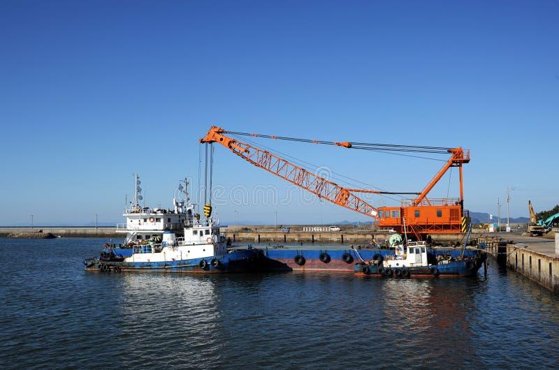 dźwigowy tugboat obrazy royalty free