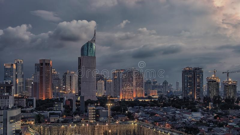 Dżakarta miasta kapitał Indonezja fotografia stock
