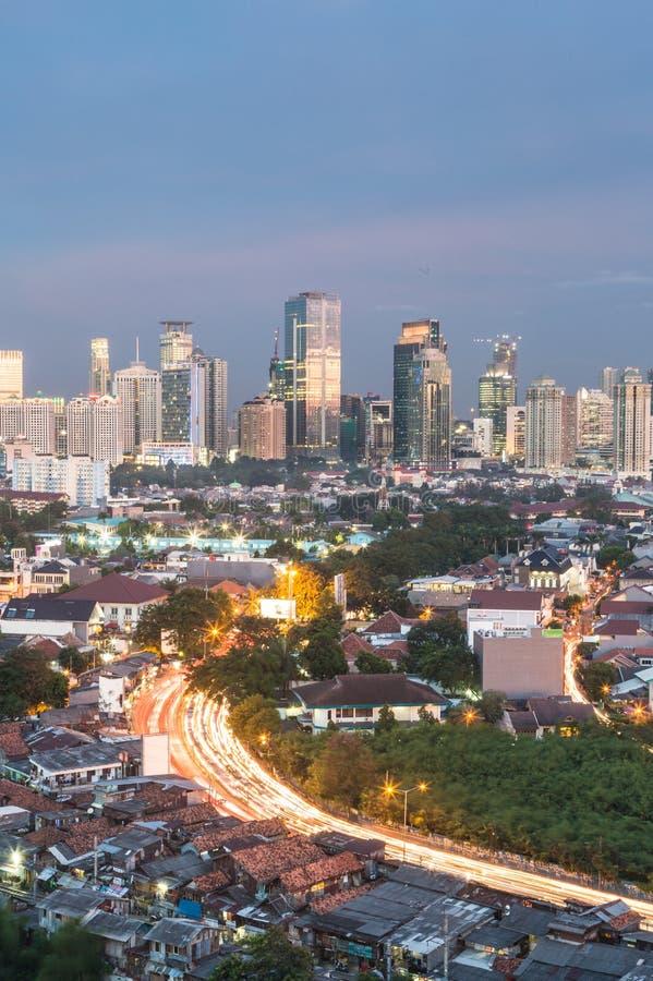 Dżakarta pejzaż miejski zdjęcie stock