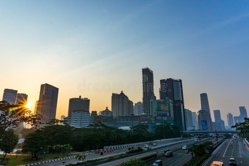 Dżakarta pejzaż miejski zdjęcia royalty free