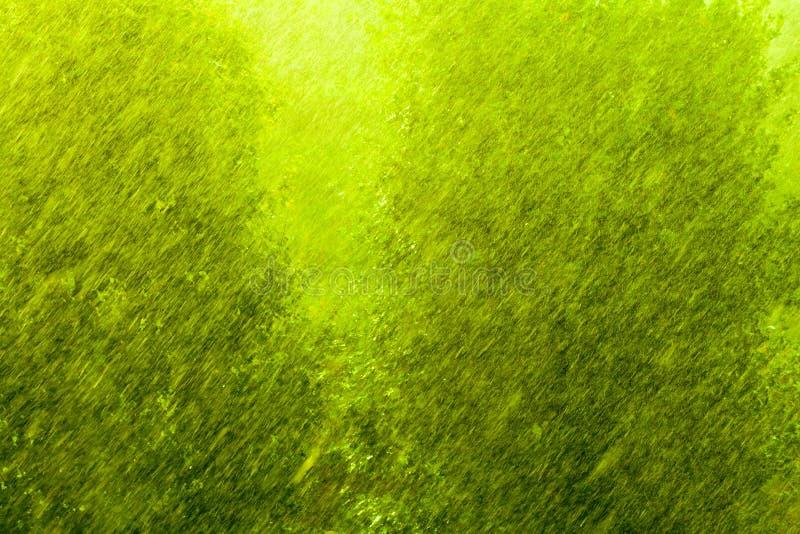 Dżdżysta outside okno zieleni tła tekstura obraz stock
